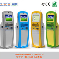self payment credit card terminal with coin acceptor