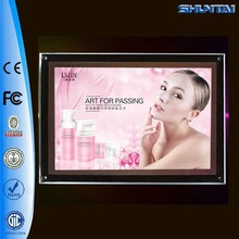 Advertising products transparent photo ad a4 led display