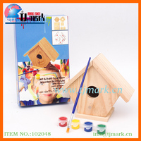 Educational Toys Build And Paint Wood Bird House Kit - Unfinished