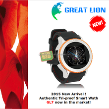 2015 Best Android Smart watch phone Tri-proof 3G Smart Android Watch Phone GL7 in stock smart watch