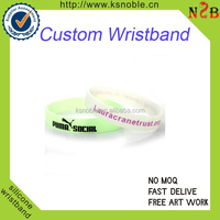 Printed Glow in the Dark Silicone Wristbands