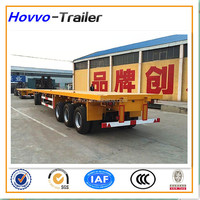 40 feet 2 or 3 axles flatbed container semi-trailer for heavy duty