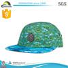 Wholesale sport underbrim print 5 panel caps,flexible 5 panel hats