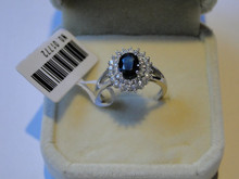 Wholesale 925 Syterling Silver Hot Selling Natural Sapphire Women's Rings