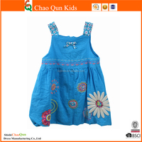 western flower embroidered frock design for girls