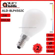 P45 2W -- Pear Shape LED Lamp -- Milk-White 2700K 3000K 4000K 6500K