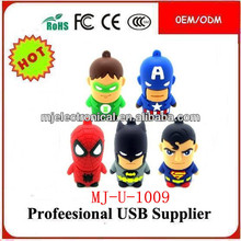 Hot ! Avengers Bulk Cheap 1GB Superman Usb Flash Drive,Cartoon Pen Drive Super Hero Usb