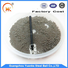 Hot sale 3-6 mm stainless steel ball for gun/ airsoft bullet for bb