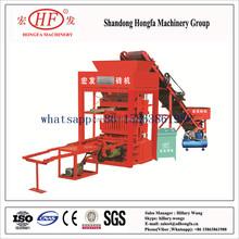 QT4-25 stone dust brick making machine/color brick making machine/manual concrete hollow block making machine