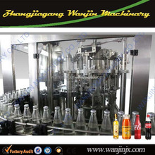 Automatic glass bottle filling grape wine filling and capping machine