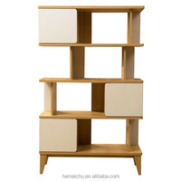Particle board 2 tone shelf wooden furniture