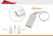 Metal Nano USB Flash Drive with Keychain Mini Pen Drives (SMS-UDP67)