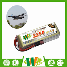 Factory direct 70-140C 2S 7.4V rc helicopter battery lipo battery 2250mAh lipo battery pack