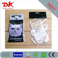 With frangrancehanging car air freshener Custom design Car Paper air freshener