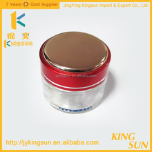 50ml glass jar with screw top lid for face cream