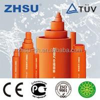 pvc conduit china best supplier white grey orange electric pvc pipe