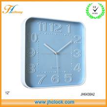 Plastic 3D Wall Clock/ Square Quartz Wall Clock in Modern Design Good for Decoration