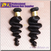 Popular product good quality shedding free loose wave virgin brazilian hair extension