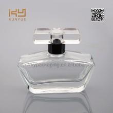 decorative empty pure perfume glass bottle