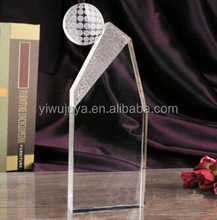 professional manufacturer crystal football/basketball trophy for sports events