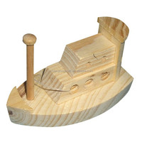 Kids played military toy boats,unfinished wood toys