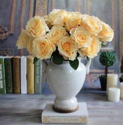 GNW FL-RS40-1 Miniature Artificial Plastic Rose Flower Pots wholesale for garden decoration