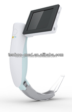 portable video laryngoscope with single use blade