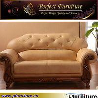 PFS2172 Caliaitalia wooden leather sofa/cow leahter sofa set used
