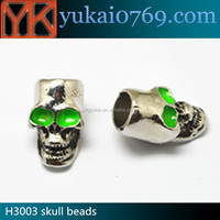 Creative skull beads for DIY bracelet/all types of beads/glow in the dark beads