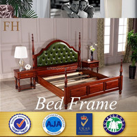 BEST selling modern frame designs double teak solid wood bed with box