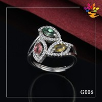 New Product 925 Sterling Silver Wedding Ring Jewelry,Gemstone Platinum Plated Ring Jewelry,Gemstone 925 Silver Ring Jewelry