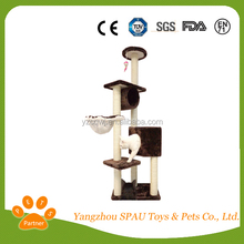 Very welcomed cat scratching tree tuffy dog toy
