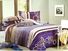 2015 modern cheap cotton 4 pieces purple quilt cover luxury silk bedding fitted sheet
