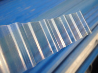 50 mircon UV protected polycarbonate plastic colored corrugated roofing sheets