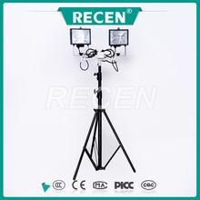 Levantador portátil equipamentos de iluminação lâmpada de tungstênio de iodo 2 * 500 w o ângulo ajustável disco lâmpada rotatable
