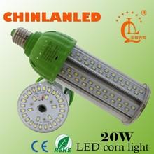 Latest design E40 20w solar led corn street light