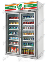 luxury pepsi cooler/ beverage display refrigerator showcase