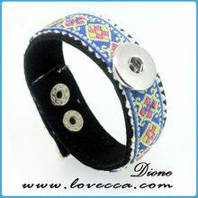 genuine Snaps bracelets leather snaps press jewelry with snaps fit for bracelets