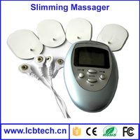 Smart electronic full body pulse slimming massager machine with four pads electric massager let fat exercise,burn and decompose