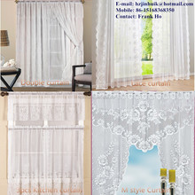 22 Years Factory With Hot Selling Floral Jacquard Sheer Lace Curtains Design