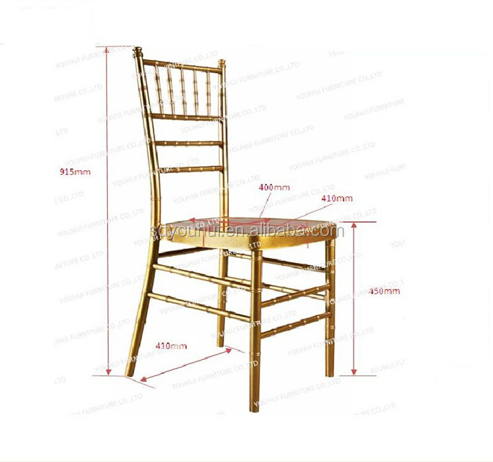 Most competitive price American style golden metal tiffany chairs