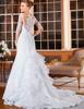 Sexy Mermaid Wedding Dresses 2015 Romantic Appliques Lace Bride Dresses Button Back Long Sleeve Vestido De Noiva