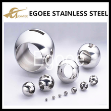 China manufacture 304 stainless steel ball with hole,hollow ball weight