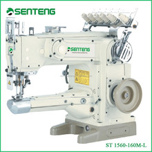 ST 1560 160M-L long arm 3 needle 5 thread flat lock sewing machinery, feed-up-the-arm interlock industrial sewing machine