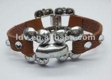 ncaa bangle bracelet leather cuff bracelet