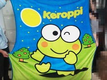 100% polyester pint super soft lovely frog flat screen printed baby flannel fleece blanket
