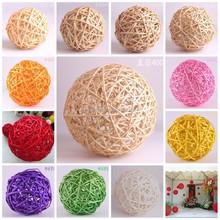 Chinese handmade real rattan ball,wicker ball wooden craft ,christmas decoration