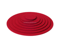 Factory wholesale super soft promotional red heart shape laster cut wool felt coaster