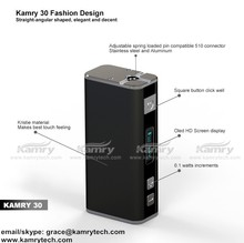 2015 best selling e-cigarette 30w mini box mod kamry30 e cigarette e-pipe model 18650 battery