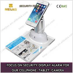 Acrylic alarm anti-theft phone holder with price tag